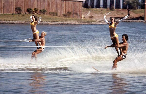 1971_WaterSki_Show_Skiing_Slalom_Doubles_Marine_World_USA