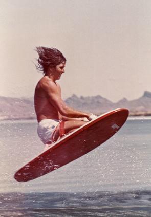1973_Knee_Ski_WaterSkiing_Kneeboard_Original_First_Jump_Murphy