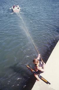 1986_Hot_Dog_Water_Ski_Tricks_360_Dock_Start_Klarich