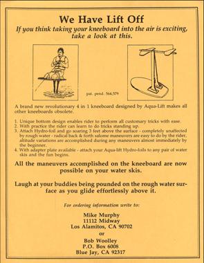 1986_Hydrofoil_Kneeboard_Flyer_Water_Ski_Murphy