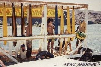 1978: The rental dock for Mike's Ski School on the Colorado River, Big Bend Resort on the Parker Strip.