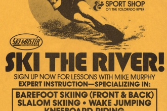 1980: A flyer from Mike's new location on the Parker Strip of the Colorado River.