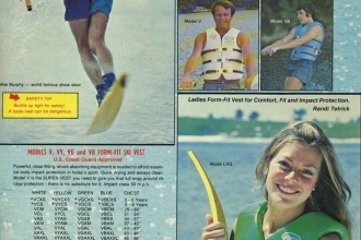 1980: A Ski Master Ad featuring Mike.