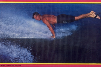 1987: This dynamic photo is from a poster Mike put together to promote his shop. Photo Rick Doyle.