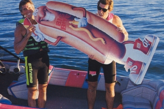 "1989: With Mike leading the way, the Parker Strip of the Colorado River became known as the ""Hotdoggers' Hangout""."