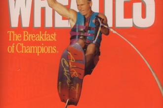 1993: A big shot at General Mills gave Mike his own special edition Wheaties box.