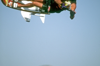 2000: Competing at the MasterCraft Flight Worlds on Lake Elsinore.