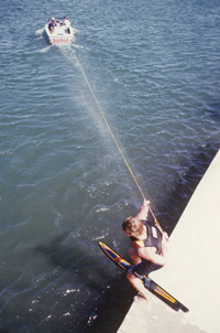 1986_Hot_Dog_Water_Ski_Tricks_360_Dock_Start_Klarich